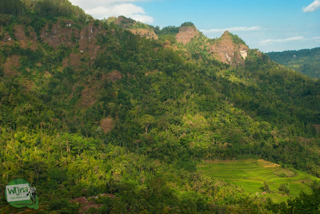 Perbukitan Menoreh di Purworejo, Jawa Tengah