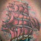 back - Boat Tattoo
