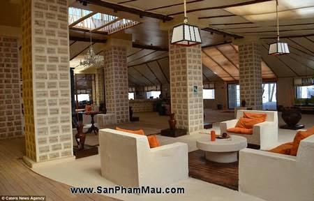 Nội thất gỗ : Khách sạn được xây dựng hoàn toàn từ muối-4