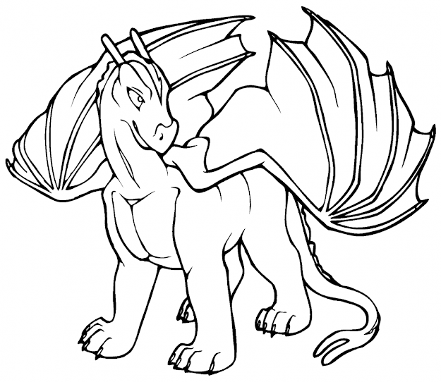 Free Printable Dragon Coloring Pages For Kids With Regard To Dragon  Coloring Pages Free