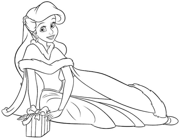 Princess Ariel Baby Coloring Pages  Baby Disney Coloring Pages