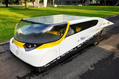 Solar Car Around Old Energy