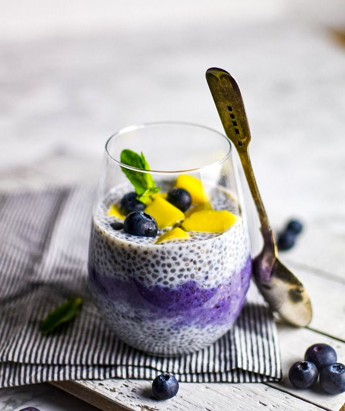 Blueberry Chia Pudding With Mangoes Recipe | Breakfast Care