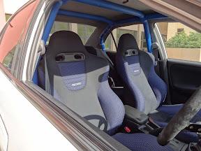Mitsubishi Evo 6 - Seats