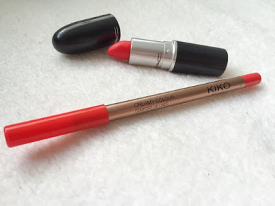 Mac's Lady Danger and Kiko lip liner
