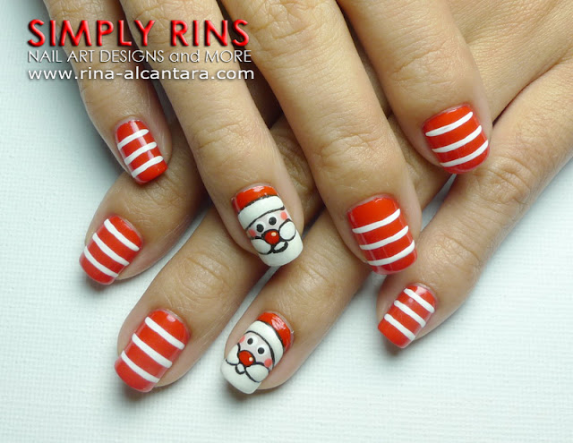 Nail Art Tutorial Santa Claus Simply Rins