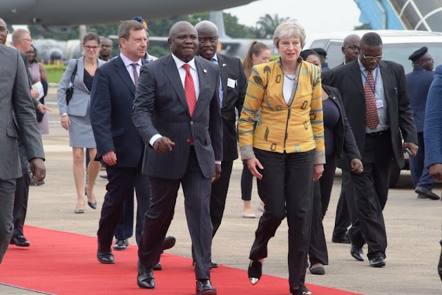 Lagos state Governor Ambode received British Prime Minister Theresa May in Lagos today.