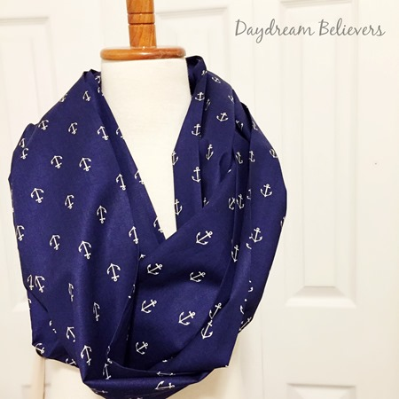 Bespoke Infinity Scarf Anchors Away for Mother Son Matching Set by Daydream Believers