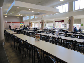 Photo: Main eating area inside student union, St. John's Campus, University of Worcester
