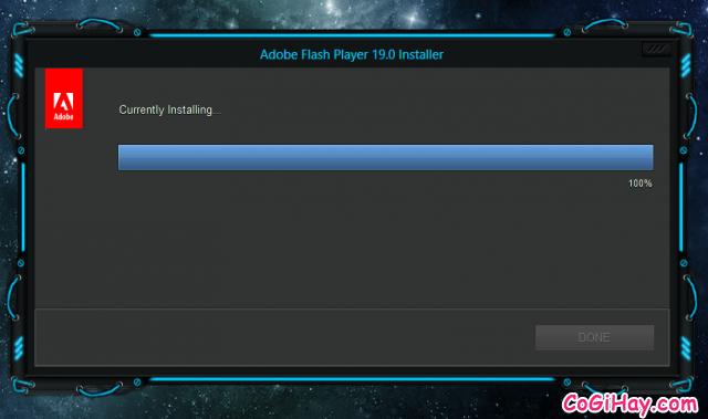 đang cài đặt và nâng cấp Flash player