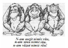 cele trei maimuțe înțelepte