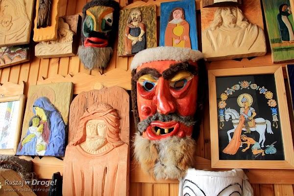 Dom rodziny Kamieniarz w Koniakowie - wystawa masek
