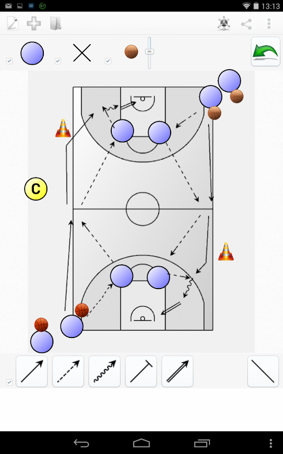 Basketball Chalk Free- screenshot