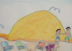 My Family at the beach by Kyle