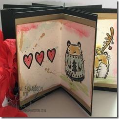 Star book hearts