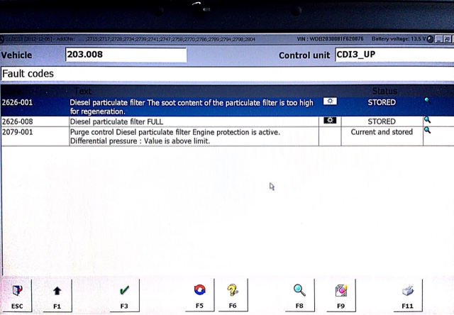 Mercedes DPF Regeneration W203 C200 CDI | Dani's Auto log