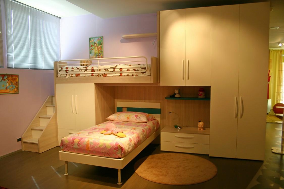 Camerette a soppalco con scrivania e armadio - Camere da letto per ragazzi ...