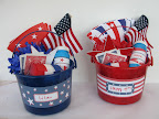 Buckets filled with decorating supplies are a great party favor.