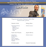Programa del Concierto de Gabriel Guillén, en Amigos de la Guitarra de Valencia