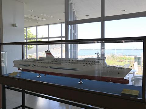 新日本海フェリー 小樽港フェリーターミナル はまなす 模型