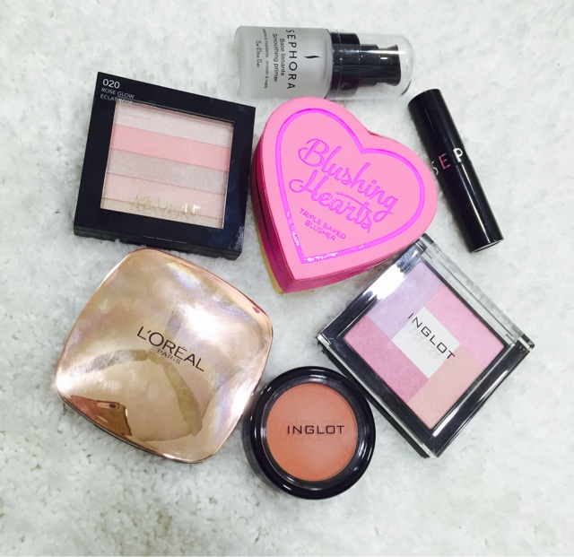 Blushes and Highlighter