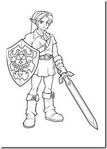 Desenhos Para Imprimir Colorir E Pintar Link O Heroi Do Game