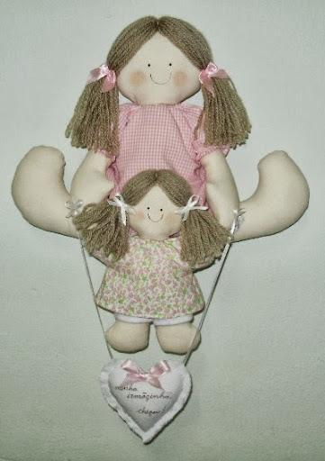 enfeite de porta bonecas para meninas