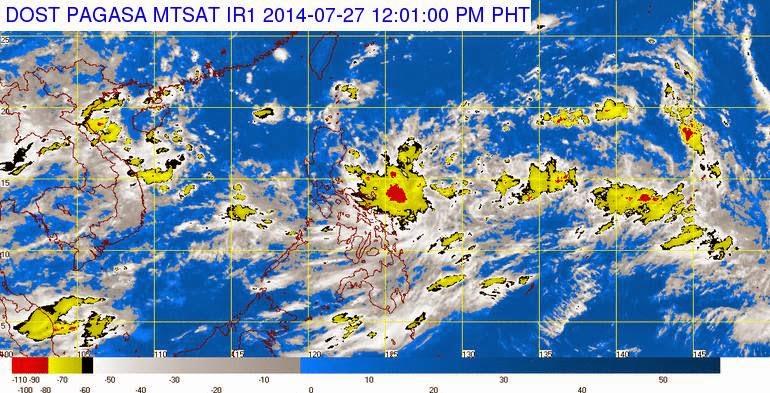LPA monitored east northeast of Borongan, Eastern Samar