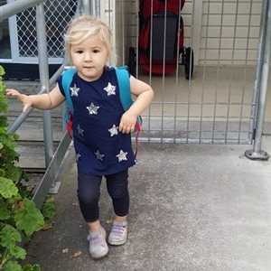 Pipi's first day of Kindy