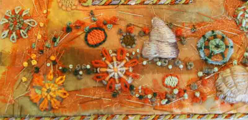 textile holiday - textile art by the sea