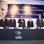"""Distinción Valores Democráticos """"Fernando Belaunde Terry"""""""