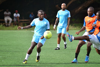 Photo: Sam Bangura.   Practice match with FC Johansen  [Leone Stars Training Camp, in advance of Equatorial Guinea match, Sept 2013 (Pic: Darren McKinstry)]