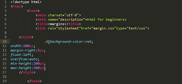 كود css داخل وسم html