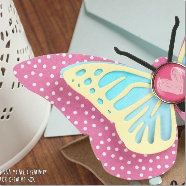 Come fare una Easel card farfalla con Fustelle Sizzix