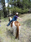 Having fun on the trail ride, Paseo del Lobo, July 13 - 15, 2012 (Photo by K. Lappalainen)