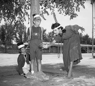 Publicity for Teenage Drama Workshop production of Pinocchio. We rehearsed at the old  Devonshire Downs summer stock site. With Christy Pillera as Jiminy Cricket and Camille Pillera as the Indian maiden