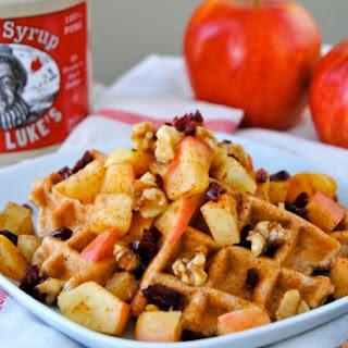Apple Cinnamon Waffle for ONE!