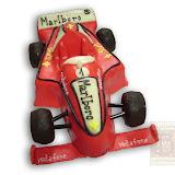 55. kép: Formatorták (fiúknak) - Forma1 - Ferrari torta