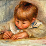 Pierre-Auguste Renoir - Coco écrivant