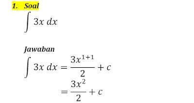 contoh integral tak tentu 1