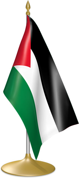 Palestinian table flags - desk flags