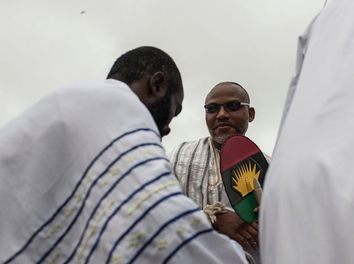 """""""We'll continue to appear openly in places Jubril/Buhari and his handlers were too terrified to thread."""" - Nnamdi Kanu"""