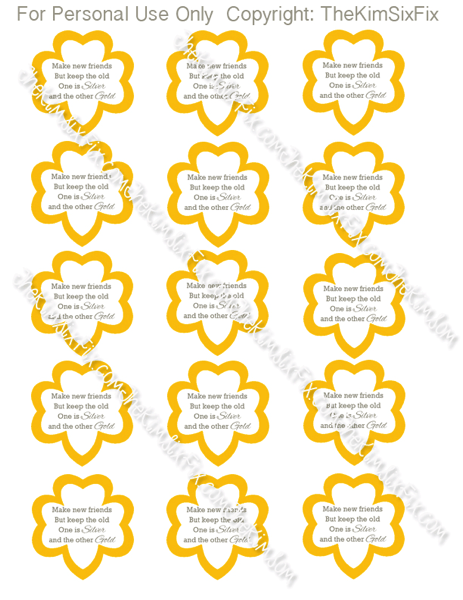 Watermarked printable