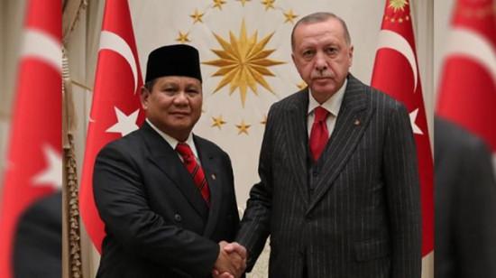 Terima Kunjungan Menhan Prabowo, Erdogan Bicara Soal Kerja Sama Industri Pertahanan