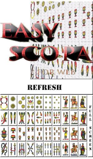 Easy Scopa for win