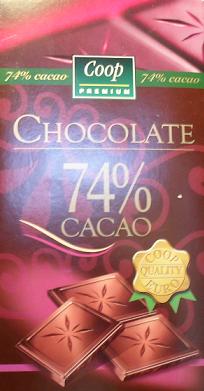 Čokoláda COOP Premium 74%