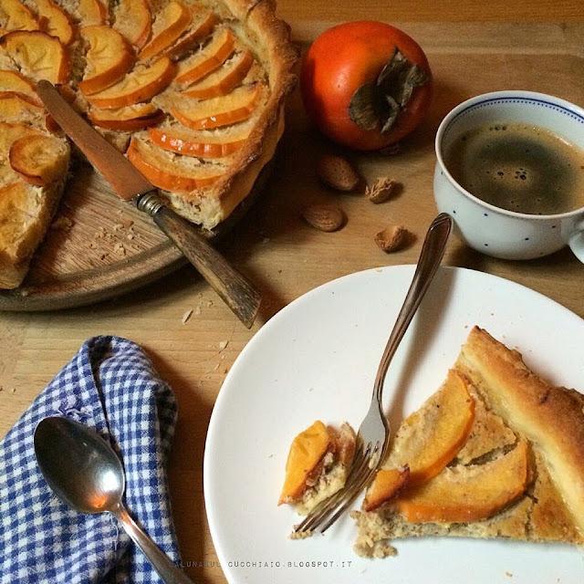 crostata brisée ai cachi mela ( persimon ) e mandorle