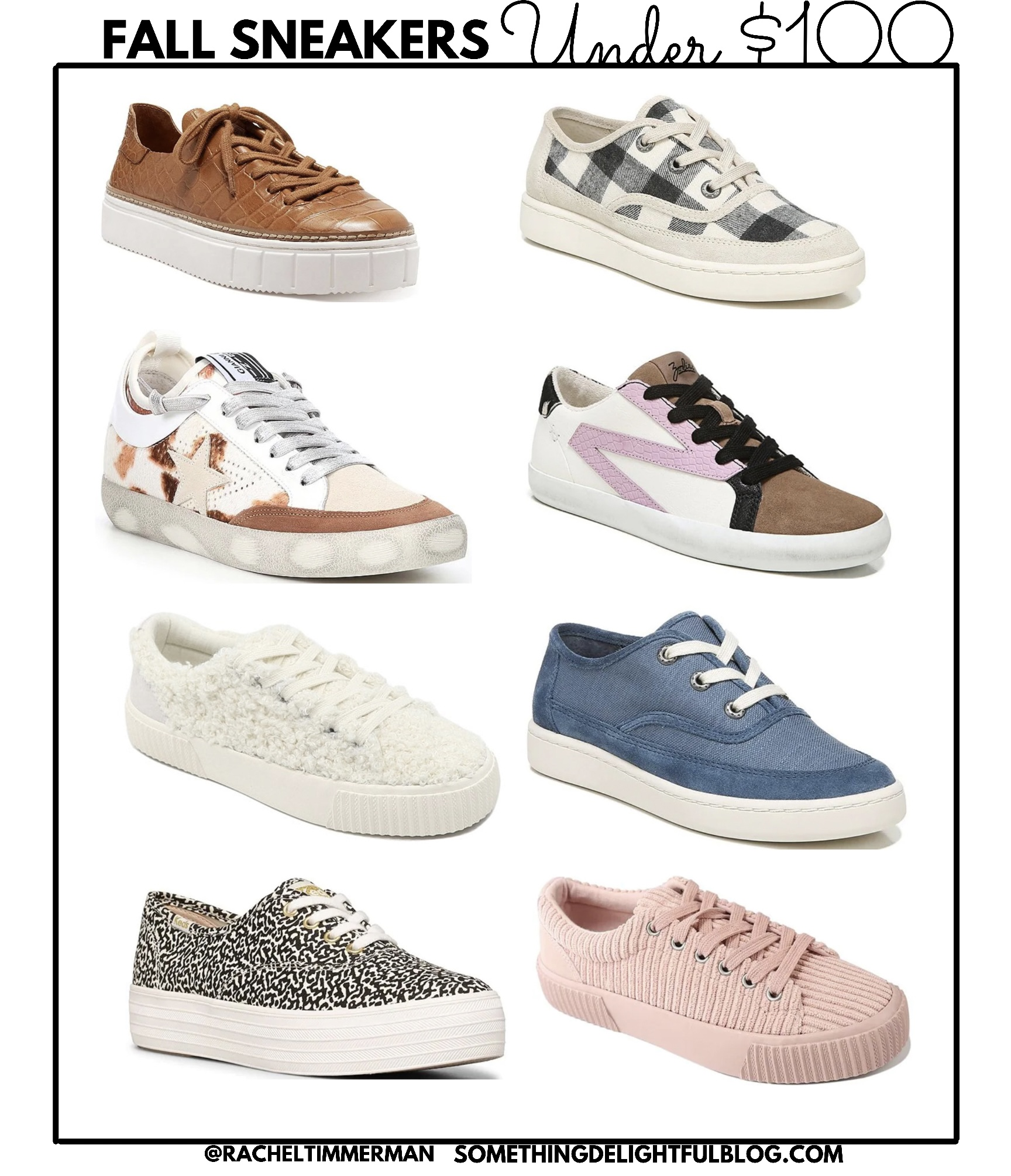 Fall Sneakers under $100 - Something Delightful Blog