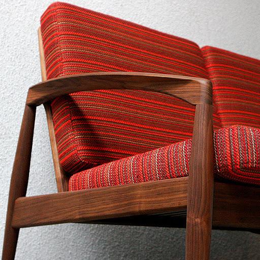 北欧名作椅子:/Paper knife Sofa 3 Seater:ボーダーレッド