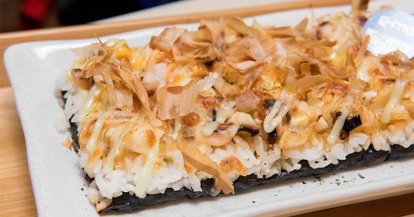 台南首家創意焗烤壽司日式壽司與美式起司的結合.焗米